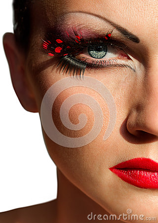 Creative fashion makeup