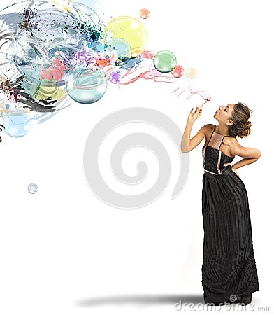 Free Creative Fashion With Soap Ball Stock Photos - 32480373