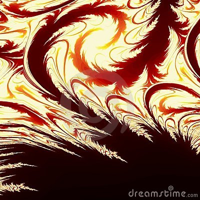 Creative feathery background