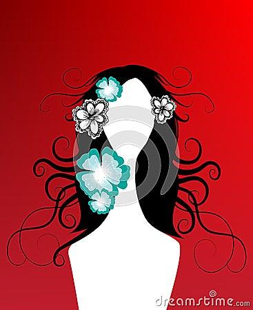 Creative floral girl