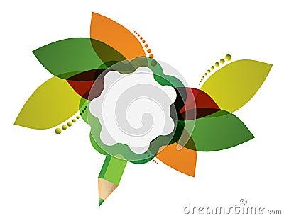 Creative floral pencil