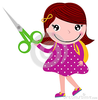 Creative girl with scissors
