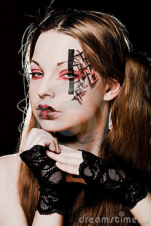 gothic makeup designs. CREATIVE GOTHIC MAKE-UP (click
