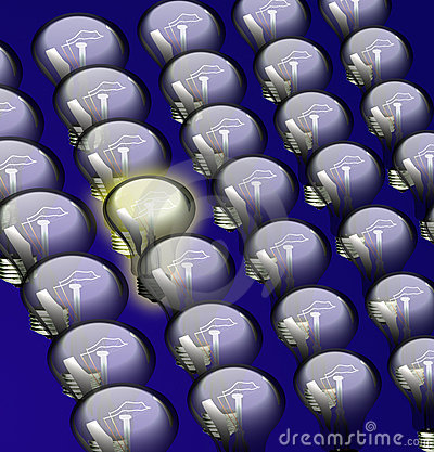 Free Creative Idea - Bulb Royalty Free Stock Photos - 17882898
