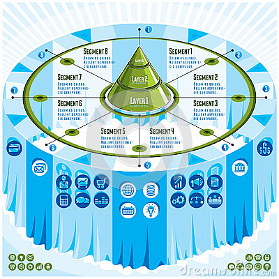 Free Creative Infographics Concept, 3d Table With Layered Pyramid Ide Stock Photo - 97010230