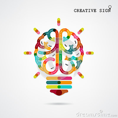 Free Creative Infographics Left And Right Brain Function Ideas On Bac Royalty Free Stock Photo - 42606515