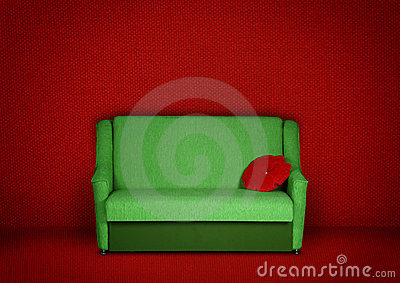 Creative interior with sofa