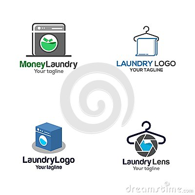 Free Creative Laundry Vector Art Logo Stock Images - 110049094