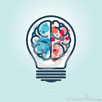 Free Creative Light Bulb Left And Right Brain Idea Icon Stock Photo - 38506760