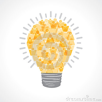 Creative light-bulb of male and female icon