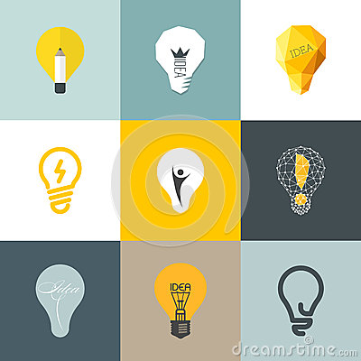 Free Creative Light Bulb. Set Of Design Elements Stock Images - 35132454