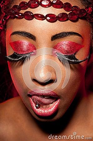 Creative Magenta Eye Makeup