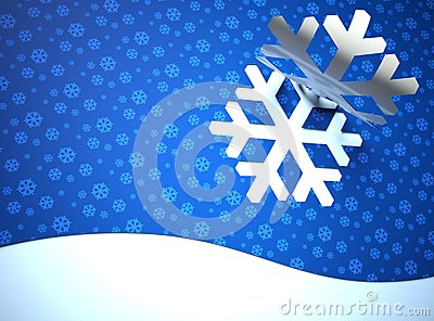 Creative modern Christmas background, snow flake