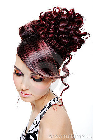 Creative multicolored hairstyle