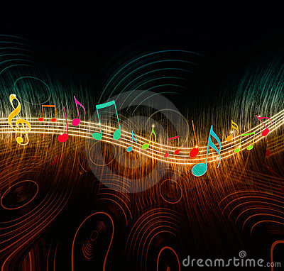 creative music notes royalty free stock photography