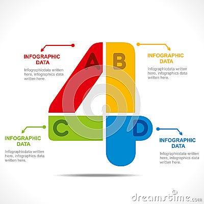 Creative number info-graphics
