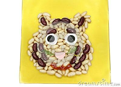 Creative porridge lion face shape