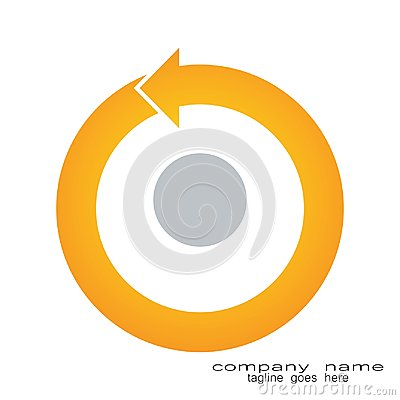 Free Creative Sample Design Round Arrow Logo Stock Photo - 118348760