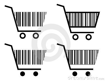 Creative shopping cart icon