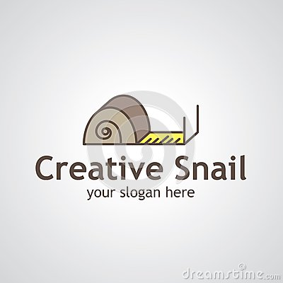 Creative Snail Vector Logo Design Stock Vector