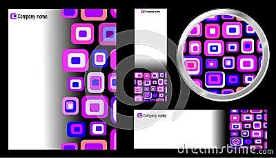 Creative Template Card Button Set