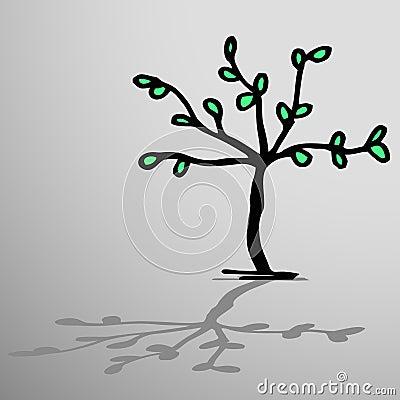 Creative tree and shadow