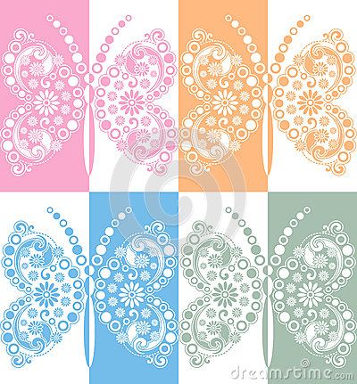 Creative vector butterfly in mirror effect