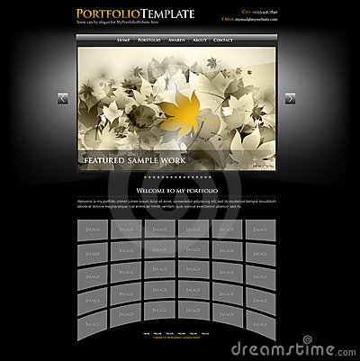 Creative website portfolio template - editable