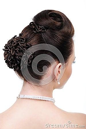Creative wedding hairstyle
