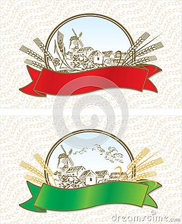 Creative wheat labels