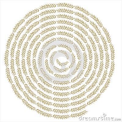Creative wheat swirl background