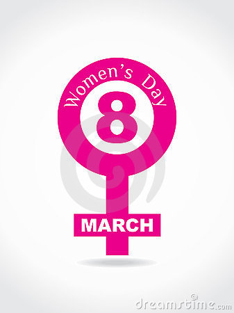 Creative Women's Day Design Element. Stock Images - Image: 23430774