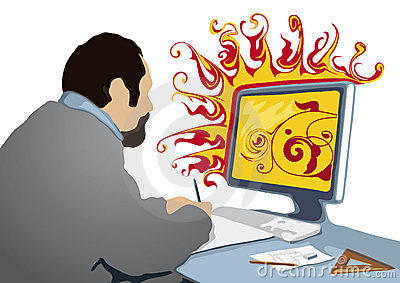 Creative at work (vector)