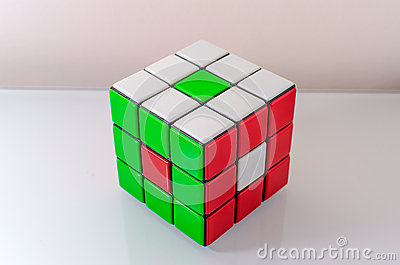 Creatively Solved Rubiks Cube Editorial Photography