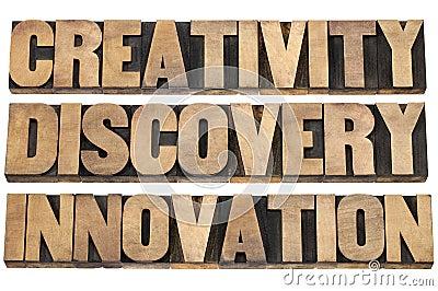 Creativity, discovery, innovation