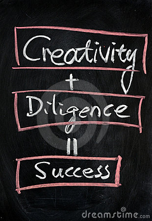 Free Creativity With Diligence Means Success Stock Image - 22486821