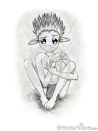 Creatura del Anime con le grandi orecchie