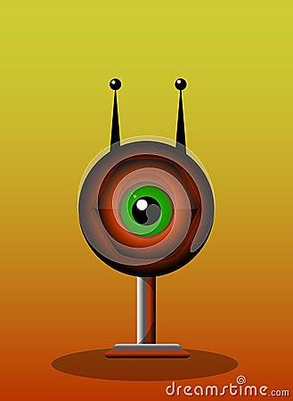 Creatura One-Eyed, illustrazione