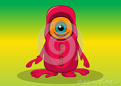 Creatura One-eyed, illustrazione