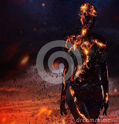 Free Creature Made From Lava Stock Images - 54533614