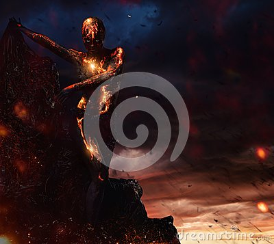 Free Creature Made From Lava Stock Image - 54533861