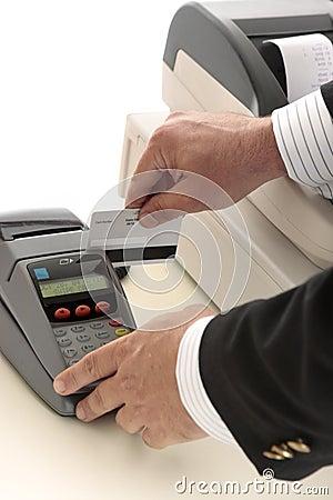 Credit or bank card transaction