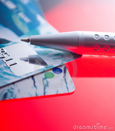 Credit card .