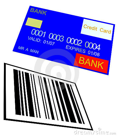 Credit Card And Barcode 8