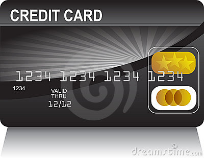 Credit Card Black Gold