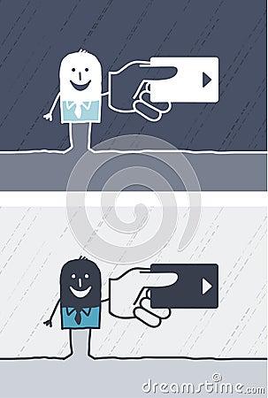 Credit card colored cartoon