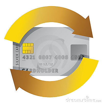 Credit card constant consumerism concept