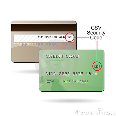 credit card csv security code stock photos image 20487983