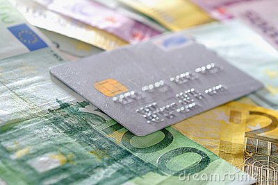 Credit Card and euro