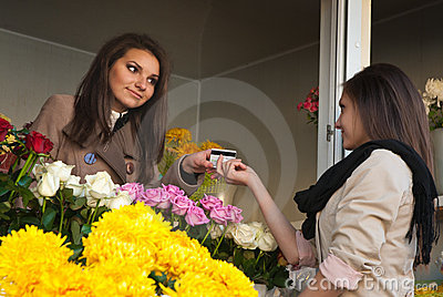 Credit Card and Flower Shop, Happy service